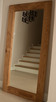 Lustro 70x140 w dębowej ramie z sękami, kolor rustic