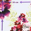 Materiał z nadrukiem wzoru: Kompozycja kwiatowa - seria 1