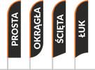Flaga reklamowa 80x160cm z masztem aluminiowym i nadrukiem - 8