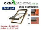Okno dachowe drewniane OptiLight B 78x160cm gr.FAKRO