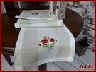 Uroczy bieżnik haftowany szarfa na stół naturalny
