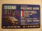 Tom-Bus Przewóz Osób Polska-Niemcy-Holandia-Belgia(zach, lub,