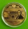 Zagadka Banknot Moneta 20 PRL 100 200 5000 1000 Milion ZŁOTO - 5