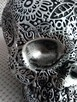 Misternie rzeźbiona srebrna czaszka silver skull - 5