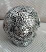 Misternie rzeźbiona srebrna czaszka silver skull - 7
