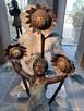 Fontanna z brązu Dziewczynka ze słonecznikami - 2