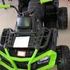 Quad Terenowy XL ATV, 24V do 45 kg Czarno Zielony - 1