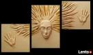 Ręcznie malowana płaskorzeźba w formie tryptyku Słoneczko Przemyśl