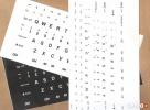 Naklejki na klawiaturę dla słabowidzących, DUŻE ZNAKI