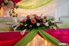 Dekoracje sal weselnych - dekoracje ślubne Tokarnia