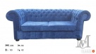 Sofa Mark Chesterfield pluszowa 3-osobowa - 1
