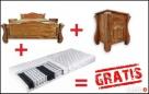 Nowa Sypialnia z DREWNA LITEGO+materac+szafki=GRATIS