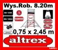 RUSZTOWANIE Elewacyjne Aluminiowe Jezdne Przejezdne ALTREX 8 Opalenica