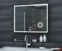 LUX-AQUA Lustro łazienkowe z lusterkiem kosmetycznym ZEGAR - 1