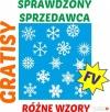 Naklejka Płatki śniegu ŚNIEŻYNKI Boże Narodzenie Majdan Królewski