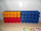 ZESTAW WARSZTATOWY - stalowa płyta + 20 pojemników ecobox m - 3