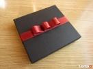 Komplet upominkowy elegancki portfel brelok, długopis czarny - 2