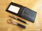 Komplet upominkowy elegancki portfel brelok, długopis czarny - 5