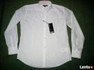 New Yorker Biała Koszula SREBRNE paski NOWA L i XL impreza - 1
