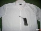 New Yorker Biała Koszula SREBRNE paski NOWA L i XL impreza - 3