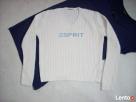 ESPRIT jasny sweterek V z logo 36 38