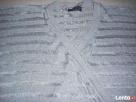 Srebrny Srebrzysty sweterek kopertowy J NOWY 36 38 - 5