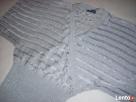 Srebrny Srebrzysty sweterek kopertowy J NOWY 36 38 - 1