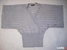 Srebrny Srebrzysty sweterek kopertowy J NOWY 36 38 - 4