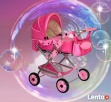 Wózek lalkowy uniwersalny z przekładaną rączką - NOWY- - 1