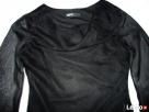 Angielska Czarna Zwiewna Bluzeczka Wizytowa Woda 36 38 S M - 3