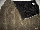 Długa Spódnica Khaki Welur 42 XL 40 - 3