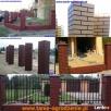 Ogrodzenia betonowe imitacja ogrodzeń klinkierowych - 4
