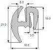 Uszczelka szyby TNL3 Ursus MF ZETOR, osłony maszyn numerych - 2