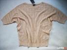 AMISU modny Sweterek AŻUR Złota Nić NOWY 42 XL