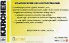Pranie wykładzin, pranie tapicerki KARCHER Dojazd bezpłatny Poznań