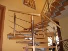 Schody drewniane ,barierki nierdzewne ,francuskie okna - 4