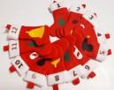 Kalendarz adwentowy skarpety z symbolami świąt, skarpetki św - 3