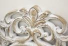Stylowe okrągłe lustro w przecieranej kwiatowej ramie - 4