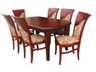 Krzesło do jadalni stylowe tapicerowane nowe eleganckie