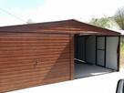 Garaż blaszany garaże blaszaki złoty dąb 6x6m Iron Tech