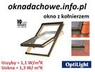 Okno okna dachowe o wymiarze 55X78 cm komplet - 2