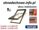 Okno dachowe drewniane OptiLight B 94x140cm z kołnierzem - 1