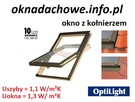 Okno dachowe 66x98 cm z kołnierzem OptiLight B