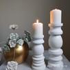 Dekoracje świeczniki toczone drewniane rękodzieło wyroby z d - 8