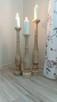 Dekoracje świeczniki toczone drewniane rękodzieło wyroby z d - 7