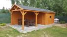 Drewniana Altana ogrodowa+ domek konstrukcja 2w1 5x3 metry