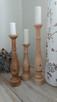 Dekoracje świeczniki toczone drewniane rękodzieło wyroby z d - 10