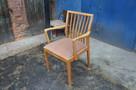 Krzesło drewniane tapicerowane, Vintage, Meble PRL, Antyki