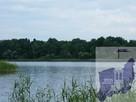 Działka z linią brzegową jeziora Woświn