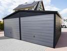 Garaż dach dwuspadowy, brama uchylna, w akrylu - 2